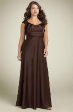 Elegant Choco Evening formal dress size AU 14 LONG TRAI