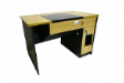 BRACKEN LCD Recessed Table - Beech Colour - 978(W) x 760(D) x 800(H) mm