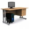 GRETEL Solo Computer Table V3 - Beech Colour