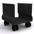SLEEK CPU Trolley - Expoxcy Black Frame