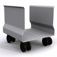 SLEEK CPU Trolley - Light Grey