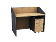 MATIX Carrel Desk - Beech
