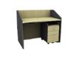 MATIX Carrel Desk - Natural Maple