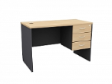 MATIX Office Drawer Table 3D  - Beech Colour