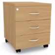 BASIX Office Utility Mobile Triple-Drawer Pedestal