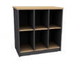 ASDEL Office Utility Low, Open-shelved Cabinet