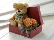 Teddy Bear for Gift - RUSS Teddy Bear & Roses in Gift Box