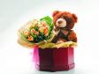 Teddy Bear for Gift - Teddy Plush Bear & Roses in Gift Box