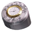 TUMASEK PEWTER ORCHIDS Round Table Clock / Pin Box