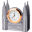 TUMASEK PEWTER PETRONAS TWIN TOWER Table clock