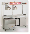 Newvos 32 oz. Twin Diplomat 6' Floor Model Popper - Popcorn Machine