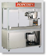 Newvos 32 oz. Enclosed President 4' Cabinet - Popcorn Machine