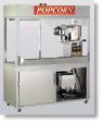 Newvos 32 oz. Enclosed President 5' Cabinet - Popcorn Machine