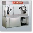 Newvos 32 oz. Twin Enclosed President 6' Cabinet - Popcorn Machine