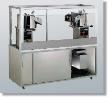 Newvos 32 oz. Twin Semi-Enclosed President 5' Cabinet - Popcorn Machine