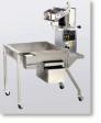 Newvos 48 oz. Electric Giant Pedestal Popper on 3.5' Knock Down Table - Popcorn Machine