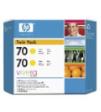 CB345A - HP Inkjet Cartridge CB345A (70) Yellow Twin Pack (2 x 130ML)