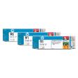 C9486A - HP Inkjet Cartridge C9486A (91) Light Cyan Multi Pack (3 x 775ML)