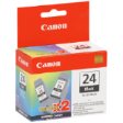 6881A011AB - Canon BCI-24 (B) Ink Cartridge Black Twin Pack