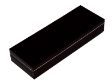 PEN CASES & BOXES - BLACK BOX WITH SILVER PIPING