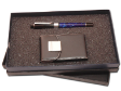 PEN SET 21 - Metal Roller Pen (Acrylic), Leather Name Card