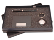 PEN SET 12 - Metal Roller Pen, Leather Keychain With Clock, Name Card Case