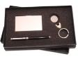 PEN SET 27 - Name Card Case, Leather Keychain, Metal Roller Pen