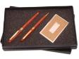 PEN SET 13 - Wooden Roller Pen, Wooden Ball Pen, Name Card Case