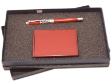 PEN SET 22 - Wooden Name Card Case, Wooden Pewter Roller Pen