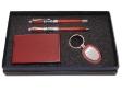PEN SET 10 - Wooden Pewter Roller Pen, Wooden Pewter Ball Pen, Wooden Keychain, Wooden Name Card Case