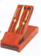 3 IN 1 WOODEN SET WITH LETTER OPENER & PEN