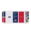 C4892A - HP Inkjet Cartridge C4892A (80) Magenta Value Pacl Printhead, Printhead Cleaner & Ink