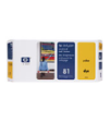 C4953A - HP Inkjet Cartridge C4953A (81) Yellow Printhead and Printhead Cleaner