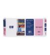 C4955A - HP Inkjet Cartridge C4955A (81) Light Magenta Printhead and Printhead Cleaner