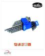 9pcs Extra Long Arm Star Key (Plastic Holder + Slide Card) (MK-3513M) - by Mr. Mark Tools