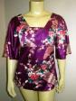 New Kimono Silk Plum Top Sleeves Blouse size 14 to 18
