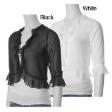 New Elegant Chiffon White Bolero Cardigan size 14 to 18