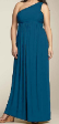 NEW Blue Jersey Maxi Cocktail Dress Size US 18 AUS 22