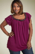New Soft & comfy PLUM plus size sequin top 18 to 22