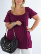 New Dark Plum Super Soft Top Blouse Plus size 18 to 22