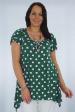 New Green White Pokal Dot Super Soft Plus size 20 to 24