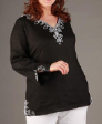New Black Crystal Beads Evening Plus size top 20 to 24
