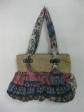 Flower Maroon + Cornhusk Bag