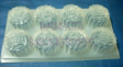 ROUND W WORDS MINI MOONCAKE Clear Plastic Jelly Mould