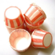 Muffin Cake Baking Paper Cup/Case-Pleated-PINK & WHITE(S)-20pcs