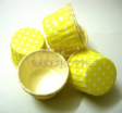 Muffin Cake Baking Paper Cup/Case-Pleated-YELLOW & WHITE DOTS(M)-20pcs