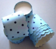 Muffin Cake Baking Paper Cups/Cases-BLUE POLKA DOT-20pcs