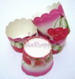 Muffin Cake Baking Paper Cups/Cases-PINK CHERRY-20pcs
