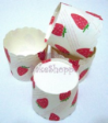 Muffin Cake Baking Paper Cups/Cases-STRAWBERRY (L)-20pcs