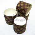 Muffin Cake Baking Paper Cups/Cases-BROWN W YELLOW FLOWER(L)-20pcs